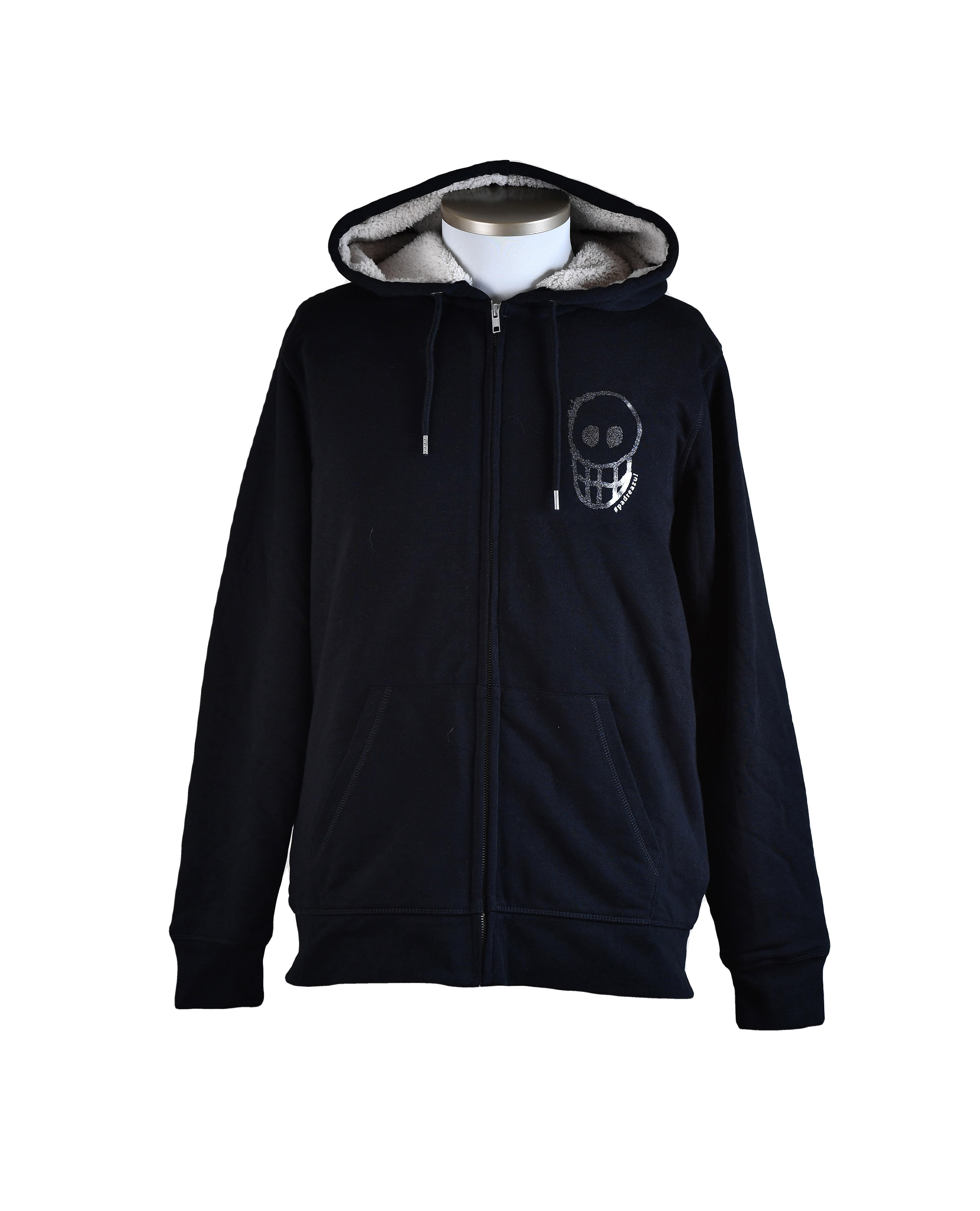 Warm Ramon Sherpa hooded sweater with zipper and Sherpa lining