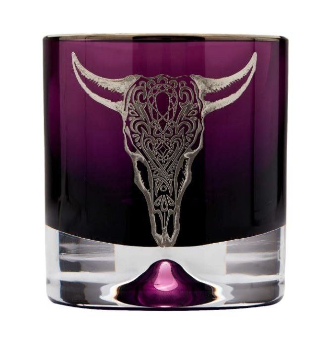 Cow Tumbler Glass Colored Tumbler by Padre Azul