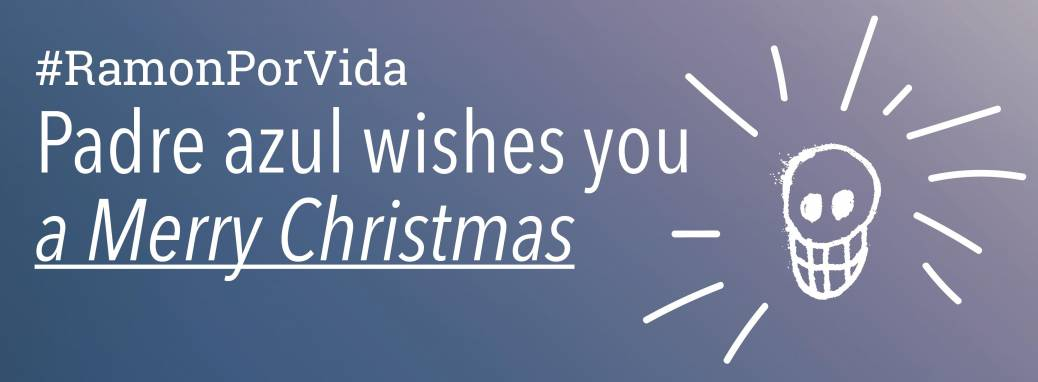 Header Newsletter. Padre Azul wishes you a Merry Christmas.