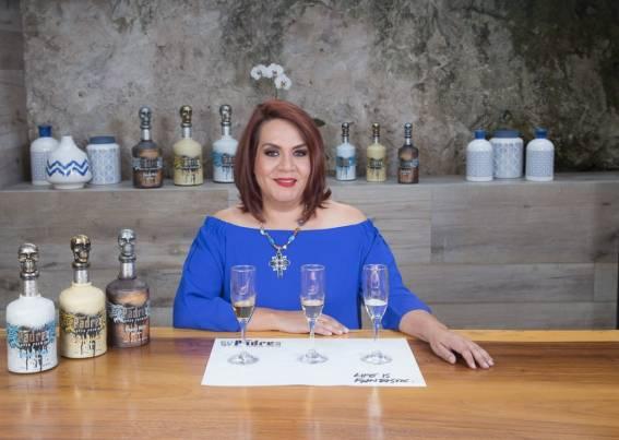 Erika Sangeado at the Padre Azul High-End Tequila tasting.