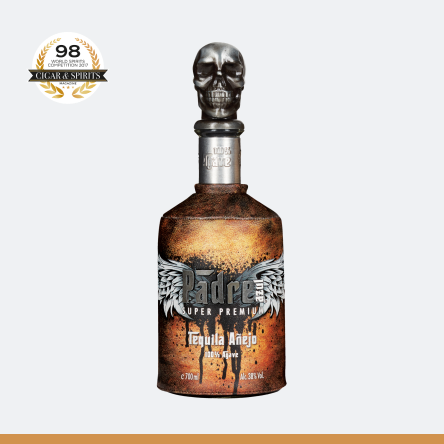 Tequila Padre Azul Añejo is aged in selected oak bourbon barrels for at least 18 months