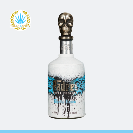 Glass bottle Padre Azul High-End Tequila Blanco.